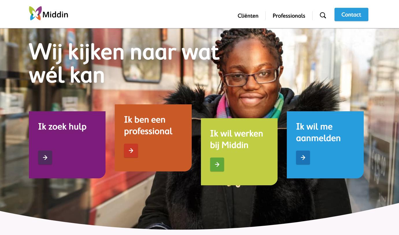 Website van Middin